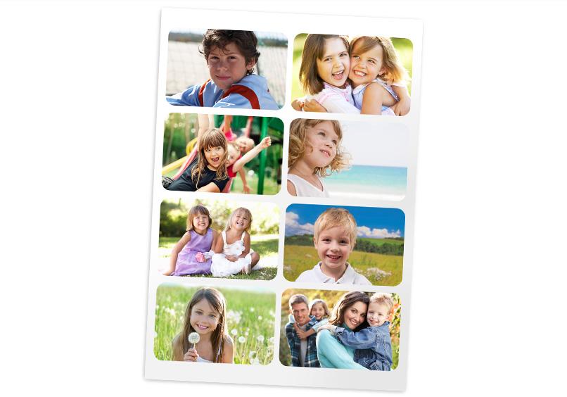 Fotosticker mit Kinderbildern
