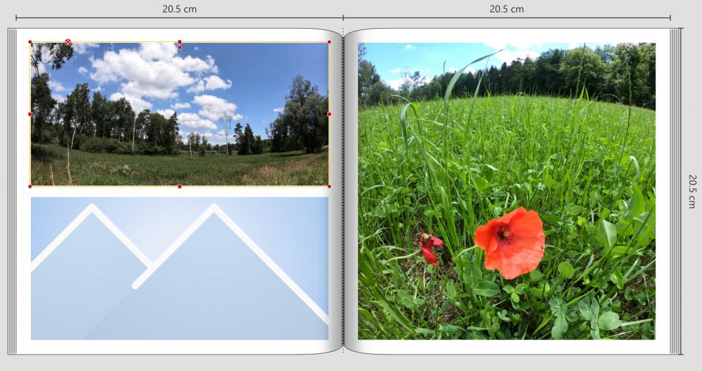 Screenshot Fotobuch quadratisch