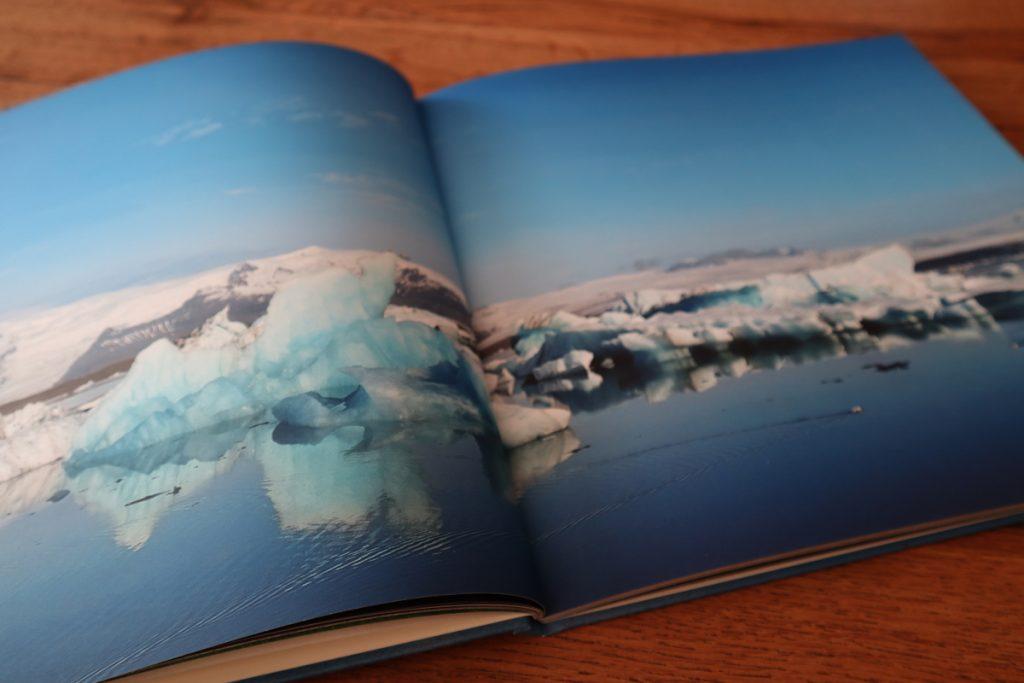 Fotobuch Doppelseite Panorama Eisbucht