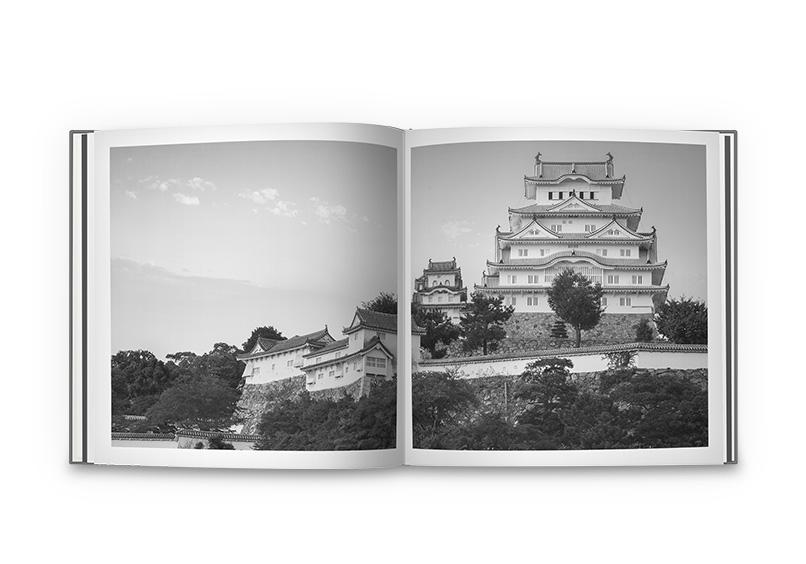 Quadratisches Fotobuch mit Schwarzweissbildern