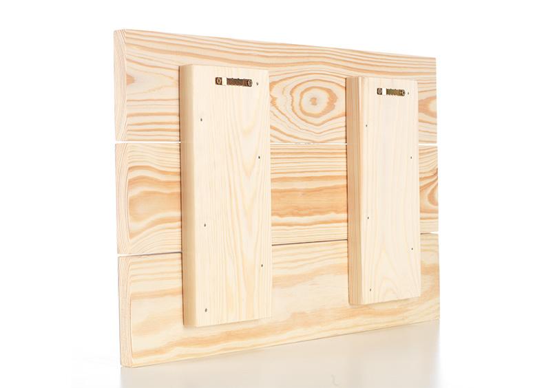 Foto auf Holz Aufhängung