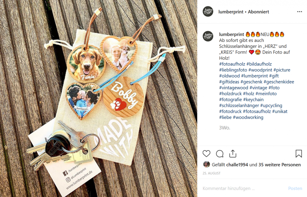 Instagram-Post Lumberprint
