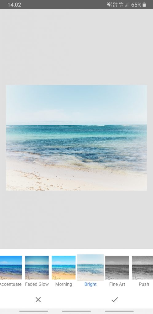Screenshot Snapseed Looks