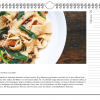 Beispielseite Kochkalender mit Tagliatelle-Rezept