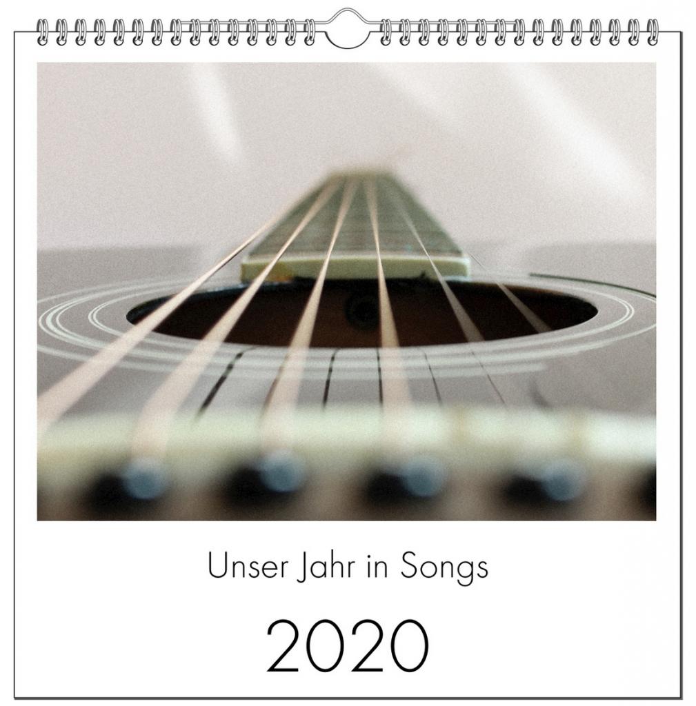 """Titelbild Kalender 2020 """"Unser Jahr in Songs"""""""