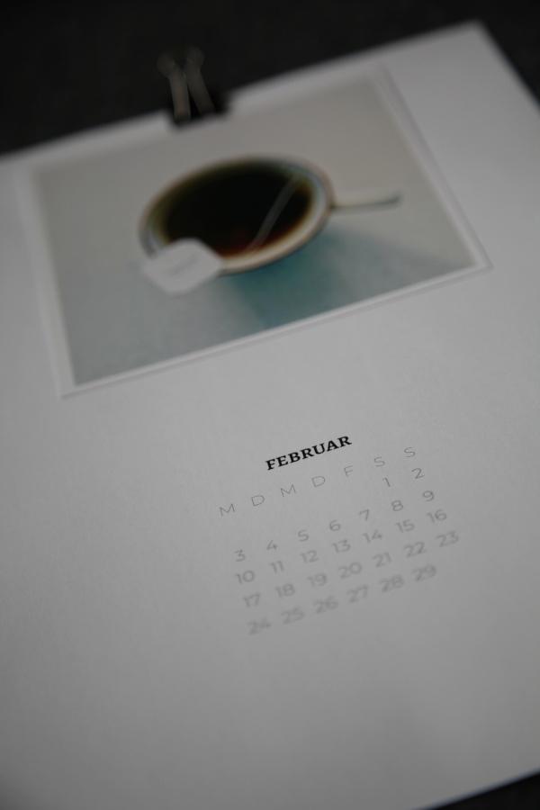 Detailaufnahme Kalenderblatt Februar 2020