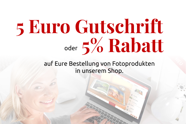 5% oder % € Rabatt für Fotoprodukte