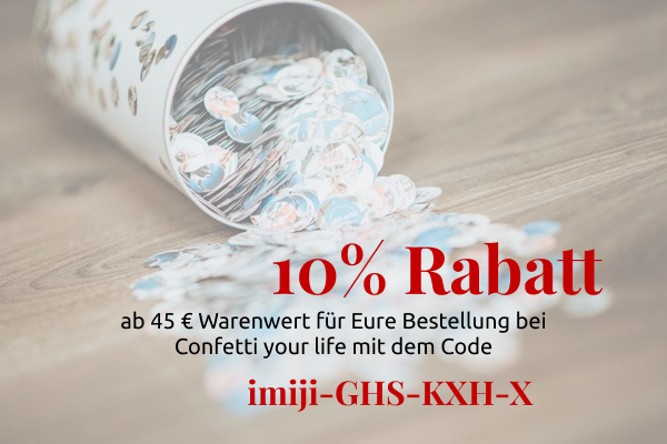 10% Rabatt bei Confetti your life