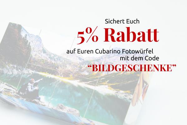 5% für Cubarino Fotowürfel
