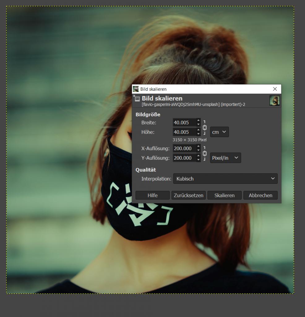 Anleitung Bildbearbeitung mit Gimp