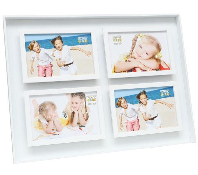 rechteckiger Fotorahmen mit vier Fotos