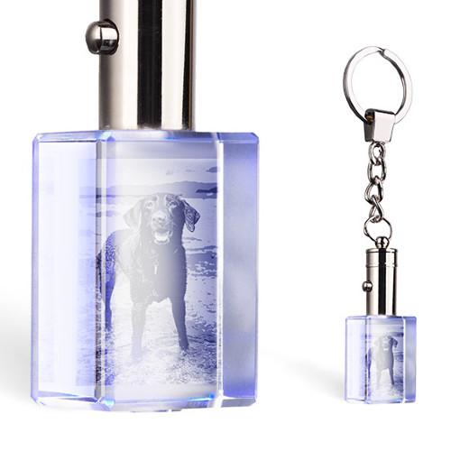 beleuchteter Schlüsselanhänger aus Kristall
