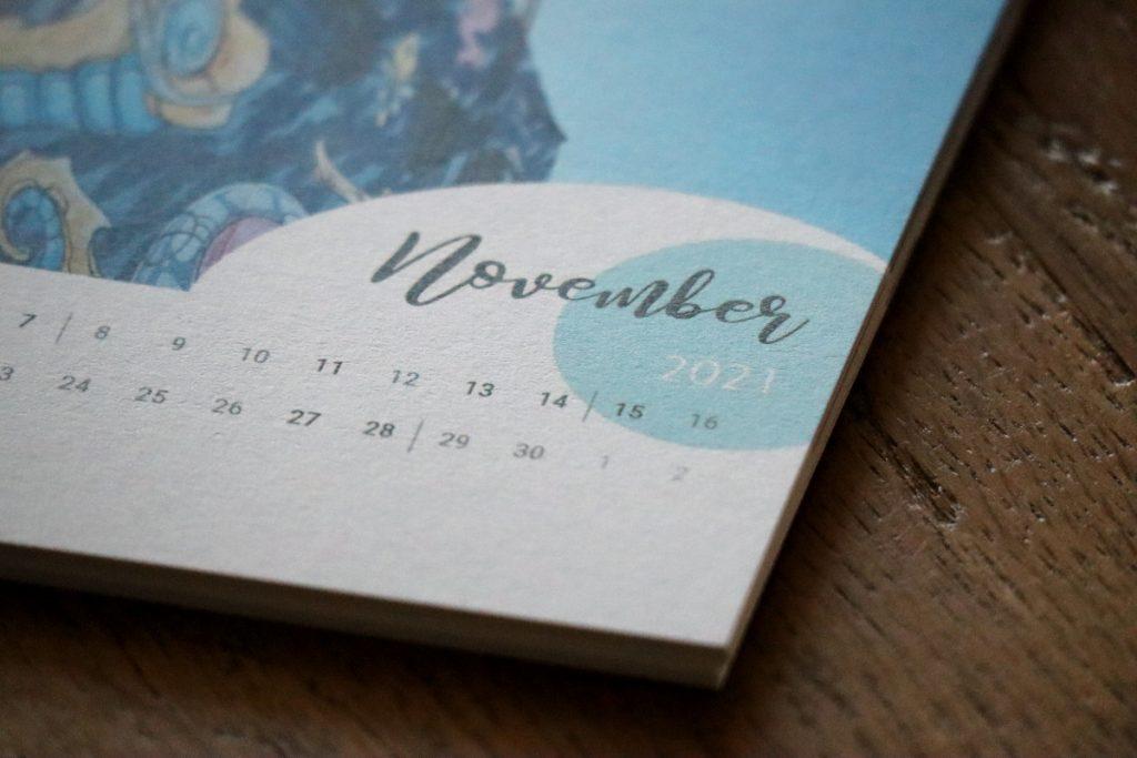 Detailansicht eines Kalenderblattes